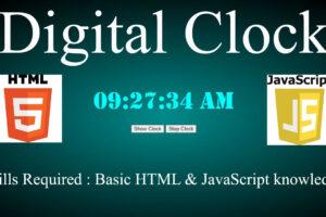 java script digital clock