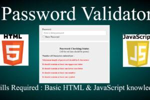 java script password validator
