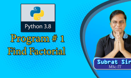 Python Program to find factorial of any number (recursive) in Hindi हिंदी में