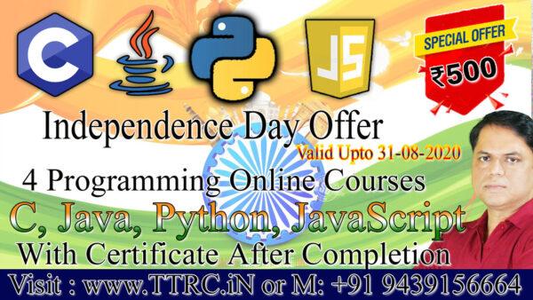 Programming Language Course (C, Java, Python, JavaScript)